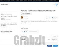 How to Sell Beauty Products Online on Classifieds