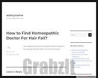 How to Find Homeopathic Doctor For Hair Fall? – astoryname