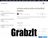sell your used car online on classifieds websites